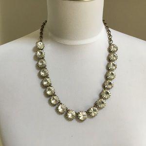 J CREW gold & rhinestone Statement necklace